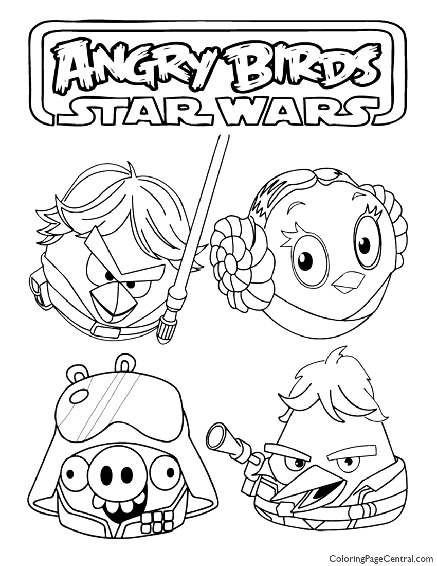 Angry Birds Star Wars 03 Coloring Page | Coloring Page Central