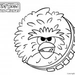 Angry Birds Star Wars - Chewbacca 01 Coloring Page