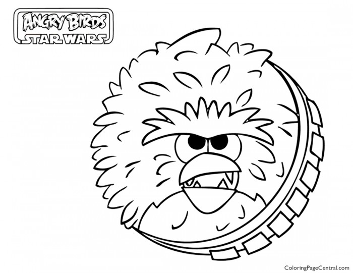 Angry Birds Star Wars – Chewbacca 01 Coloring Page