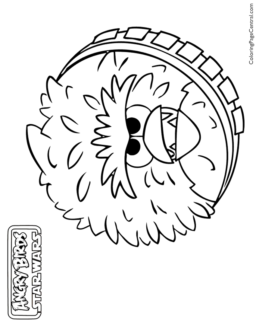 Angry Birds Star Wars – Chewbacca 01 Coloring Page | Coloring Page ...