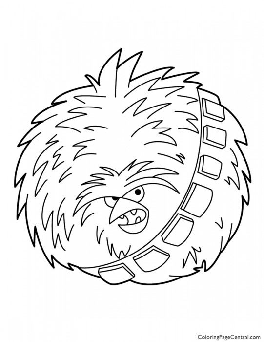 Angry Birds Star Wars – Chewbacca 02 Coloring Page