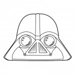 Angry Birds Star Wars - Darth Vader 01 Coloring Page