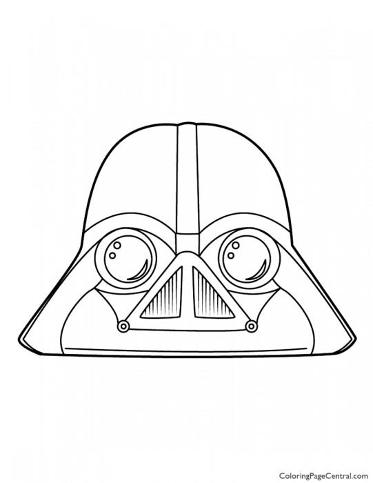 Angry Birds Star Wars Darth Vader 01 Coloring Page Central