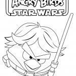 Angry Birds Star Wars - Luke Skywalker 01 Coloring Page