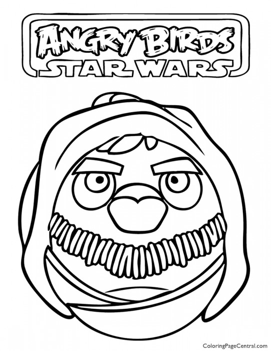 Angry Birds Star Wars – Obi-Wan Kenobi 01 Coloring Page