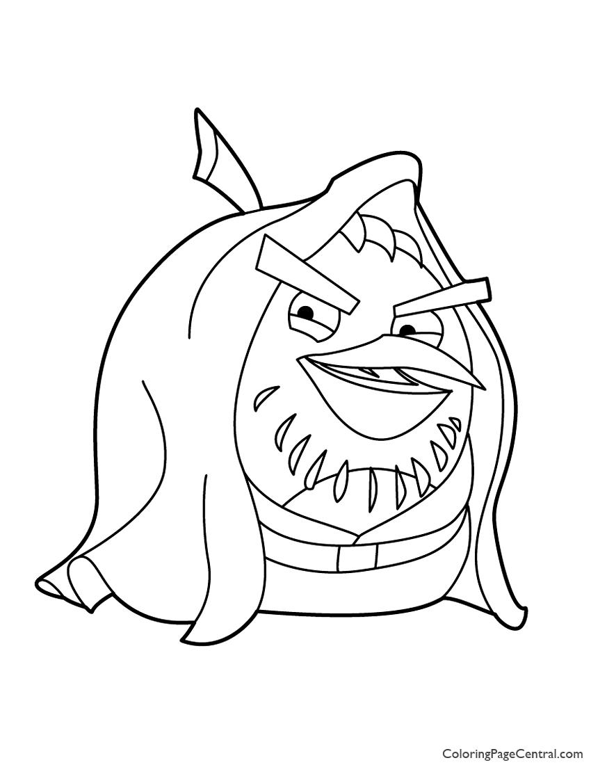 angry birds star wars obi wan kenobi 02 coloring page