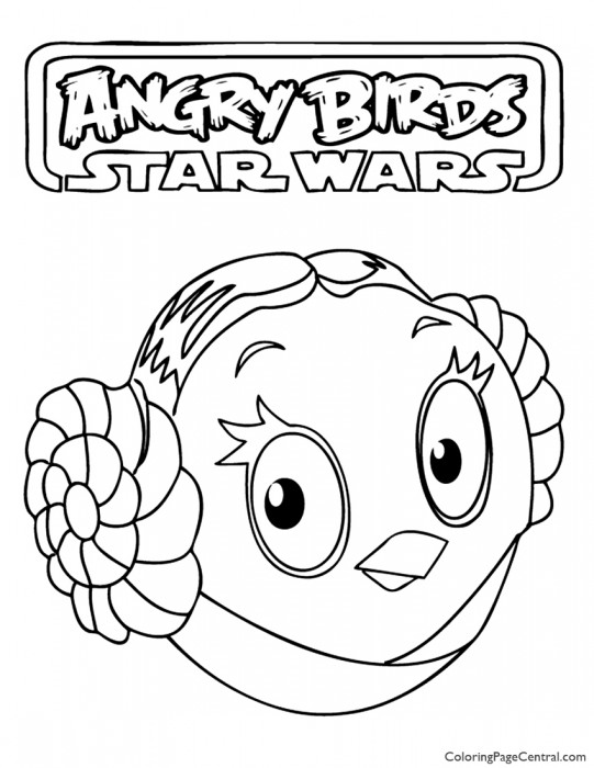 Angry Birds Star Wars – Princess Leia 01 Coloring Page
