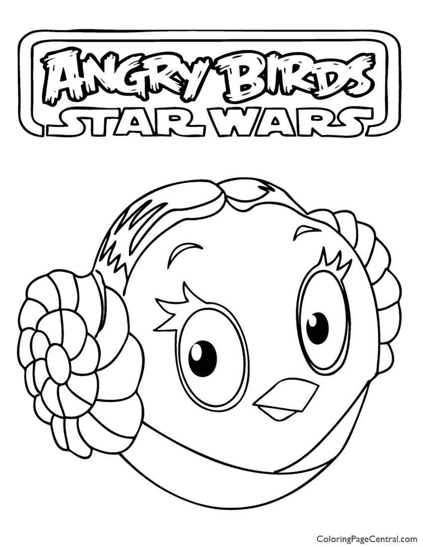 Angry Birds Star Wars – Princess Leia 01 Coloring Page | Coloring ...