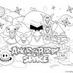 Angry Birds in Space 01 Coloring Page