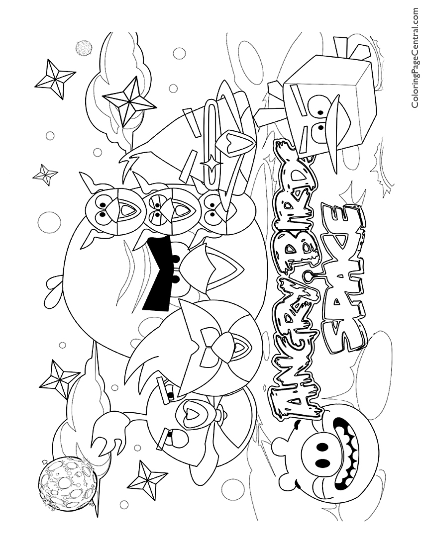 Angry Birds in Space 01 Coloring Page | Coloring Page Central