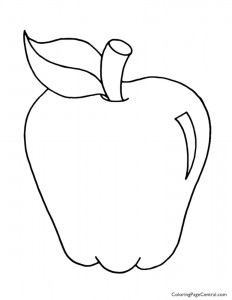 Apple 01 Coloring Page
