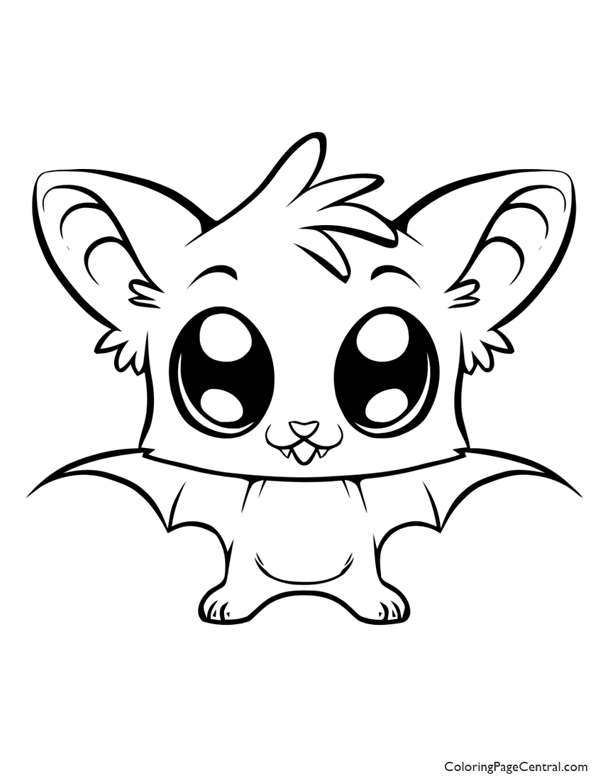 Bat 01 Coloring Page Coloring Page Central