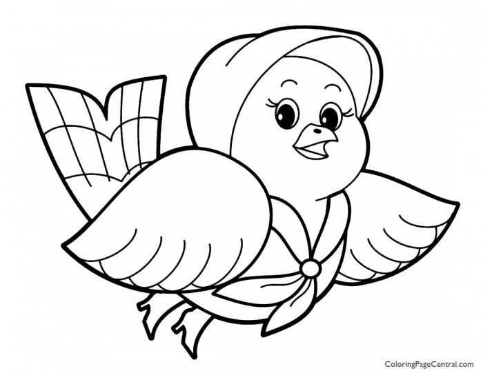 Bird 01 Coloring Page