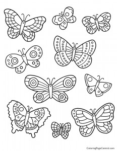 Butterflies 02 Coloring Page