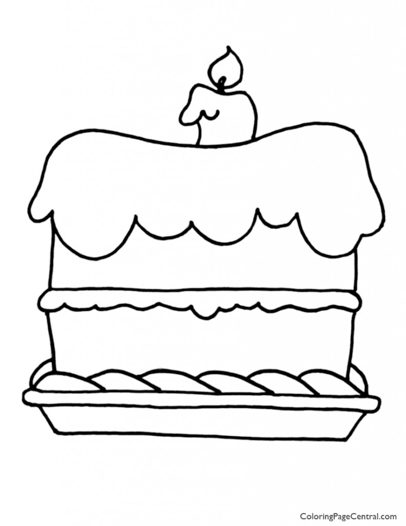 Cake 01 Coloring Page