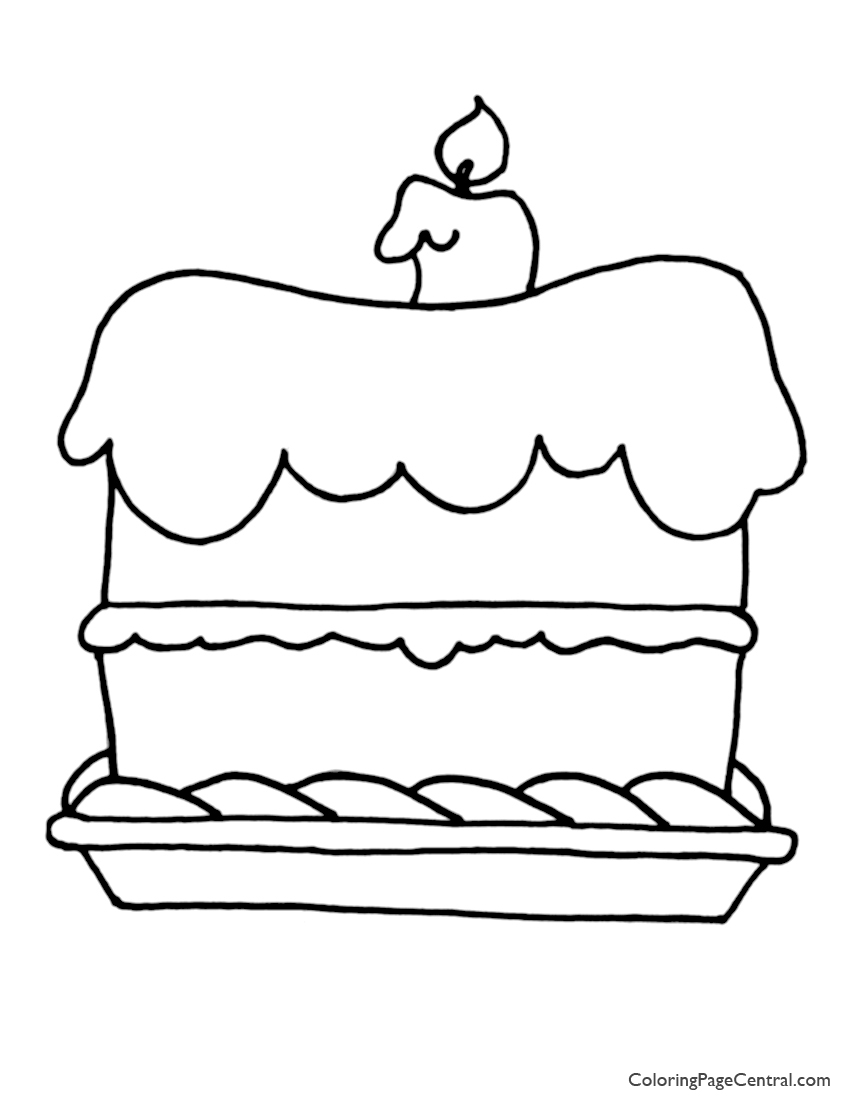 Cake 01 Coloring Page   Coloring Page Central