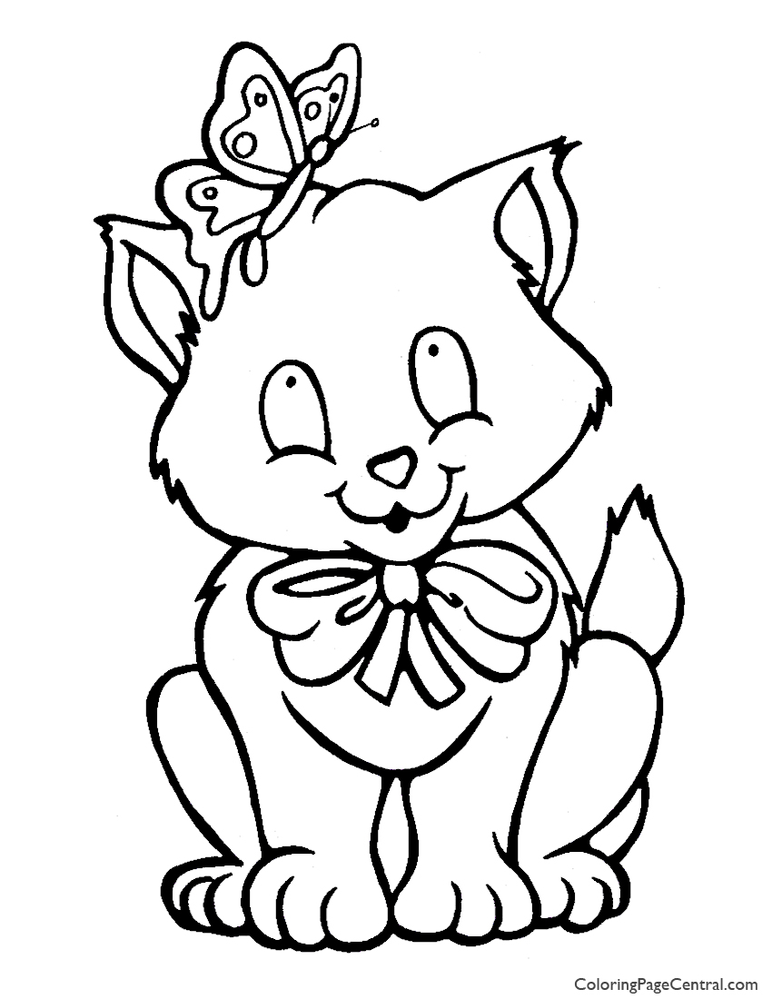 Cat 03 Coloring Page