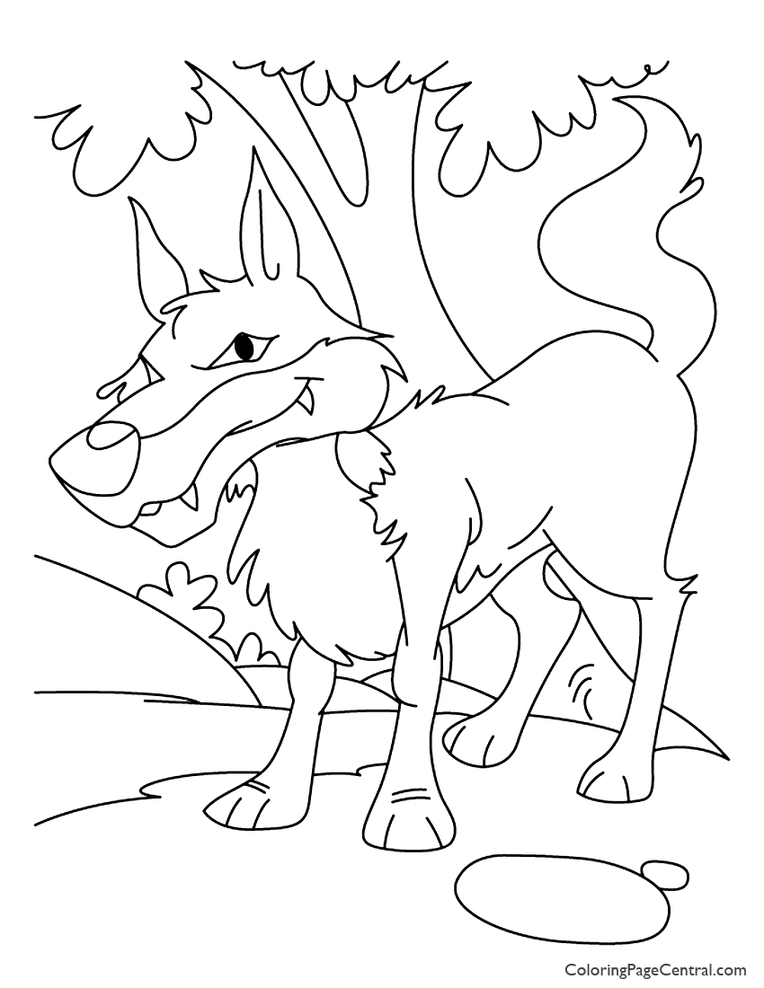 Coyote 01 Coloring Page