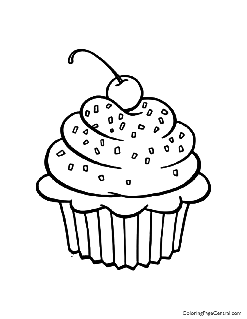 Cupcake 01 Coloring Page Coloring Page Central