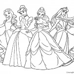 Disney Princesses 01 Coloring Page