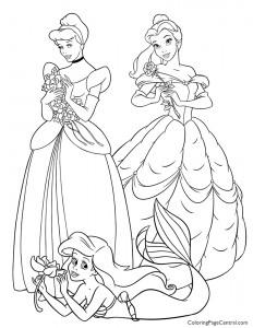 Disney Princesses 03 Coloring Page