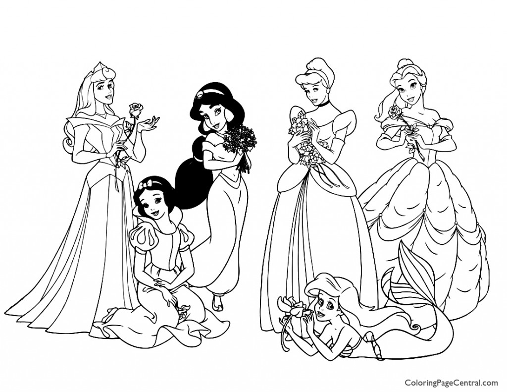 Disney Princesses 04 Coloring Page
