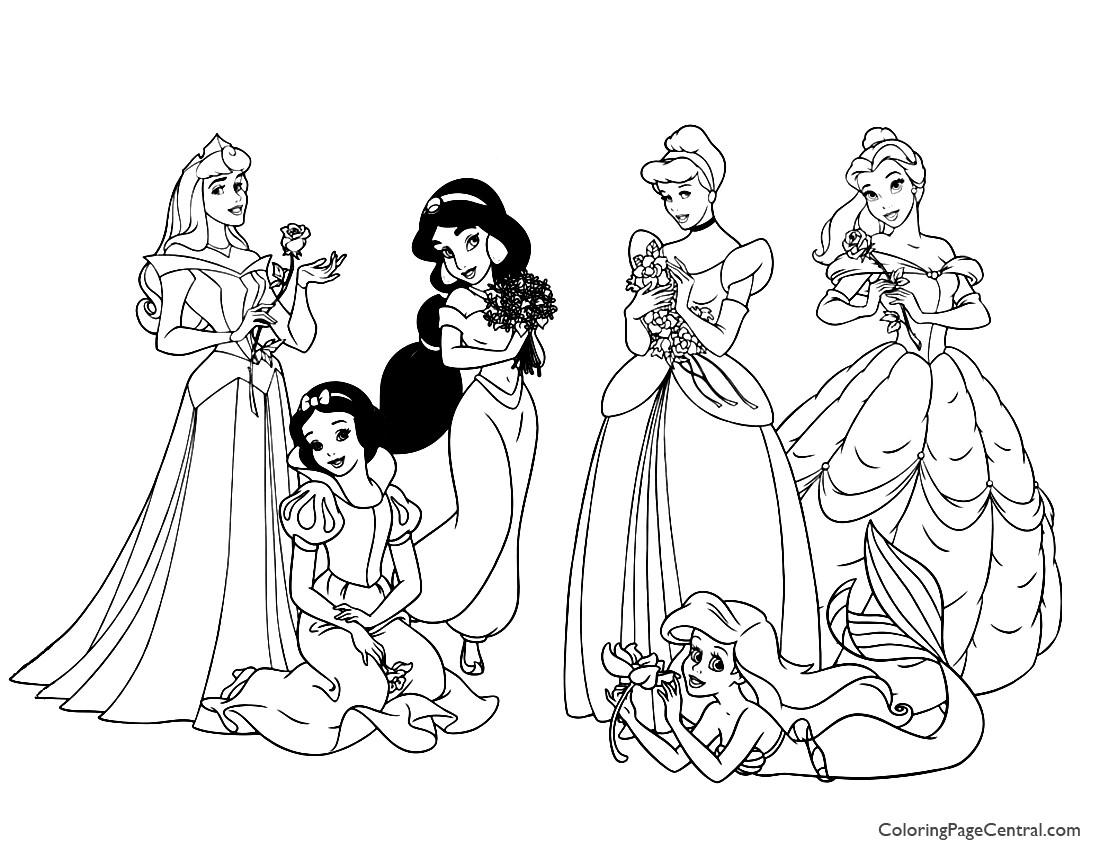 Disney Princesses 04 Coloring Page