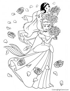 Disney Princesses 05 Coloring Page