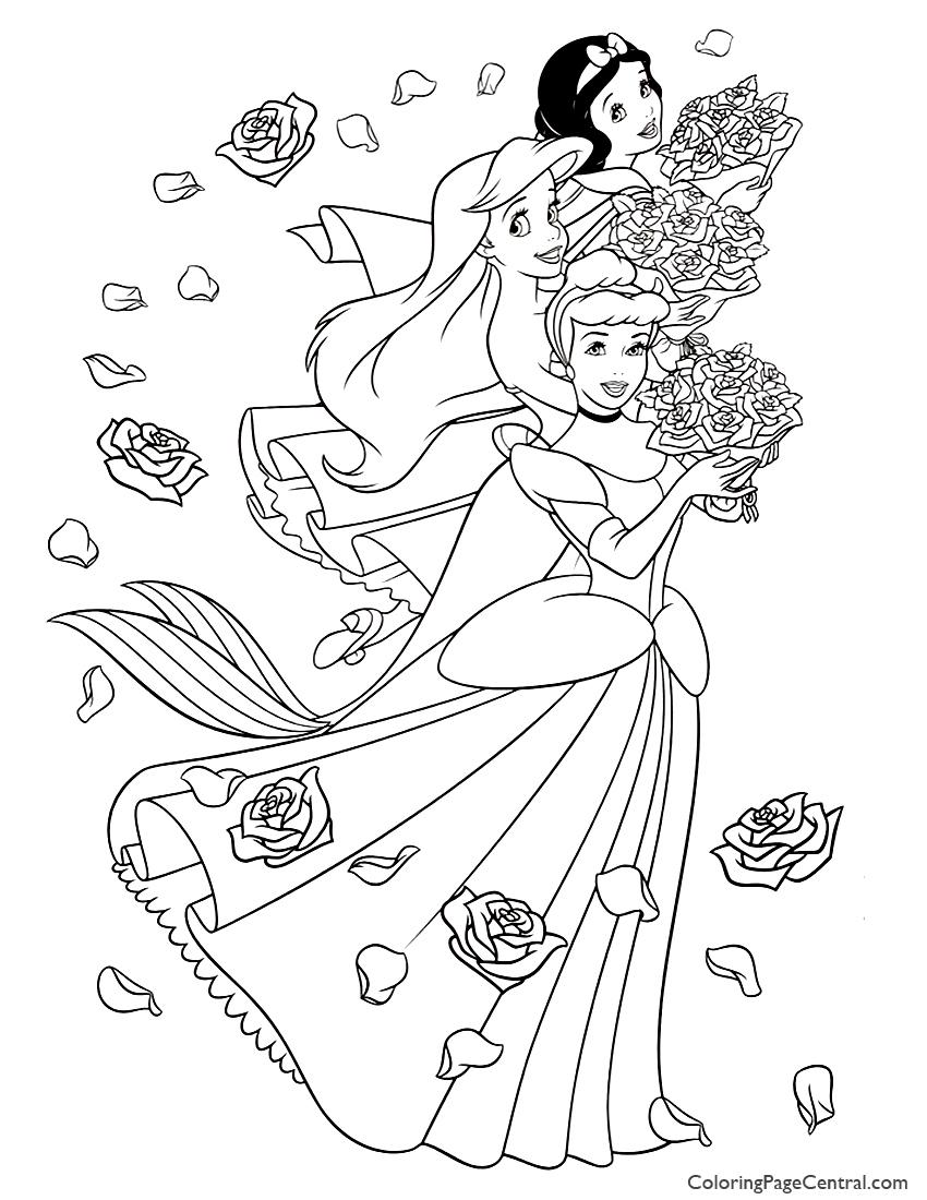 Disney Princesses 05 Coloring Page