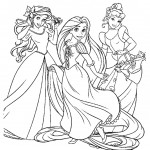 Disney Princesses 09 Coloring Page