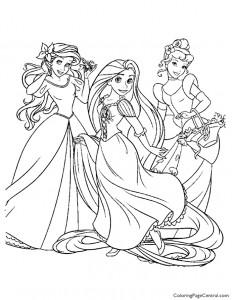 Disney Princesses 09 Coloring Page