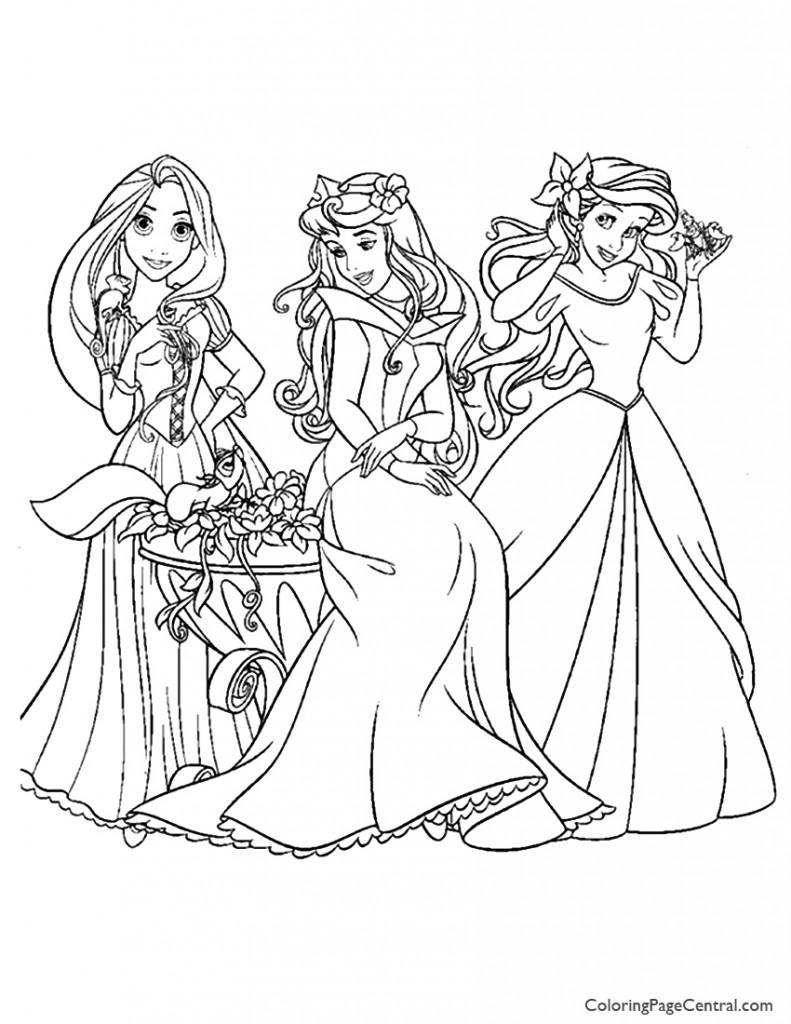 disney princesses 10 coloring page  coloring page central