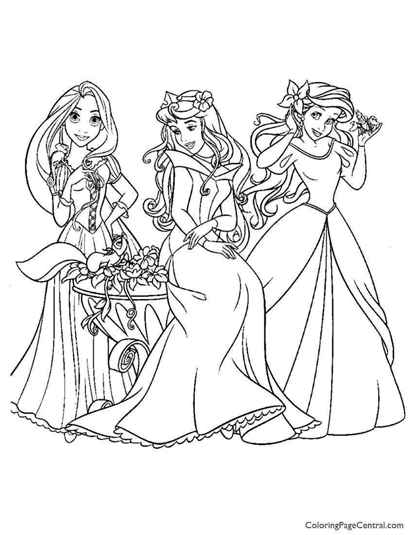 Disney Princesses 10 Coloring Page Coloring Page Central