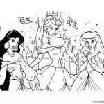 Disney Princesses 11 Coloring Page