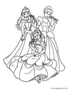 Disney Princesses 13 Coloring Page
