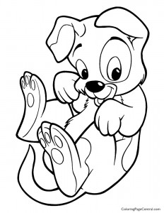 Dog 01 Coloring Page