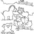 Farm Animals 01 Coloring Page