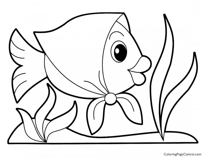 Fish 01 Coloring Page