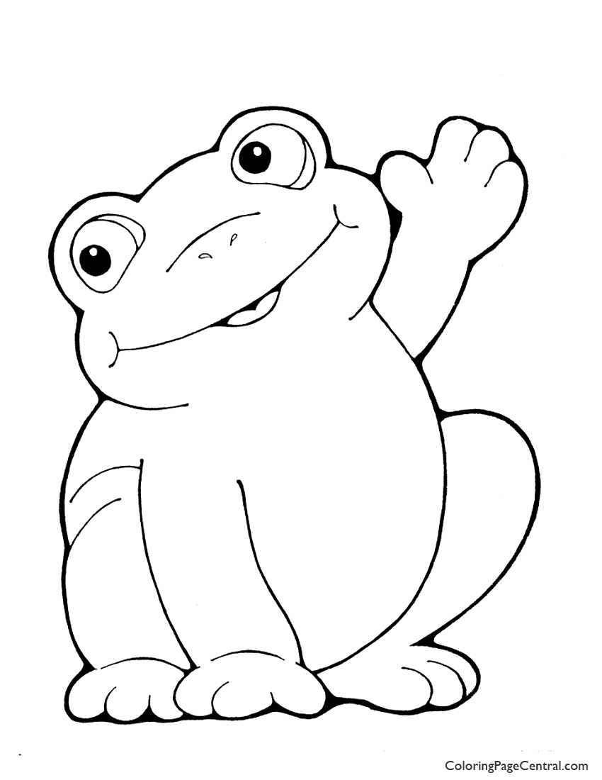 Frog 01 Coloring Page | Coloring Page Central