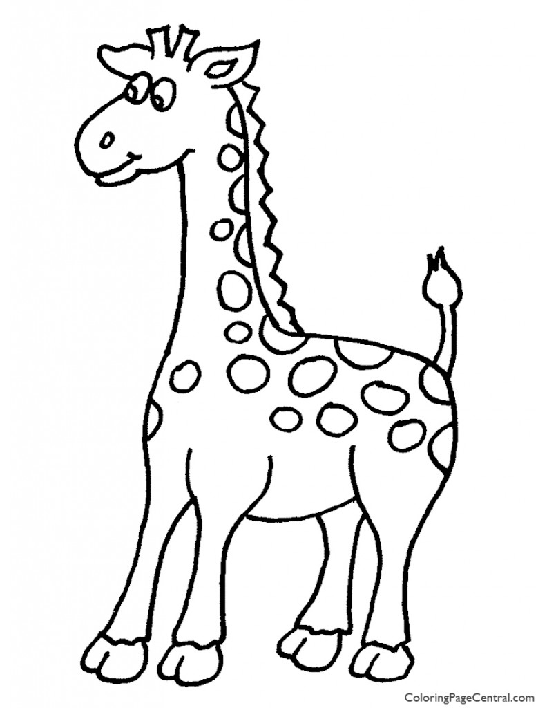 Giraffe 01 Coloring Page
