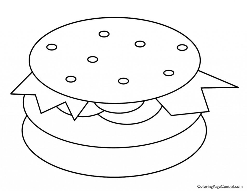 Hamburger 01 Coloring Page | Coloring Page Central