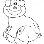 Pig 01 Coloring Page