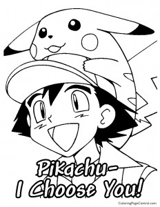 Pokemon – Ash Coloring Page 02