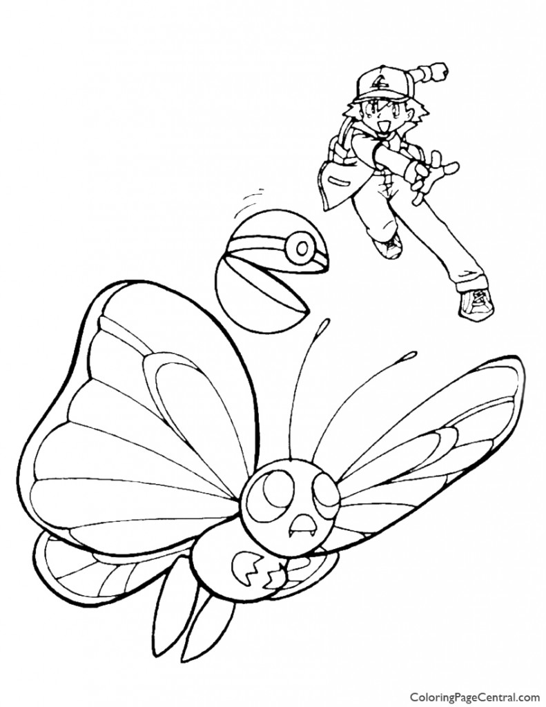 Pokemon - Ash Coloring Page 04
