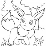 Pokemon - Eevee Coloring Page 01