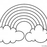 Rainbow 01 Coloring Page