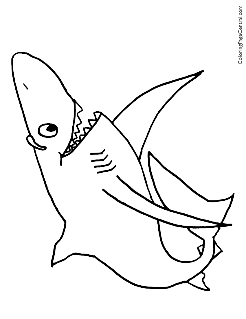 Shark 01 Coloring Page   Coloring Page Central