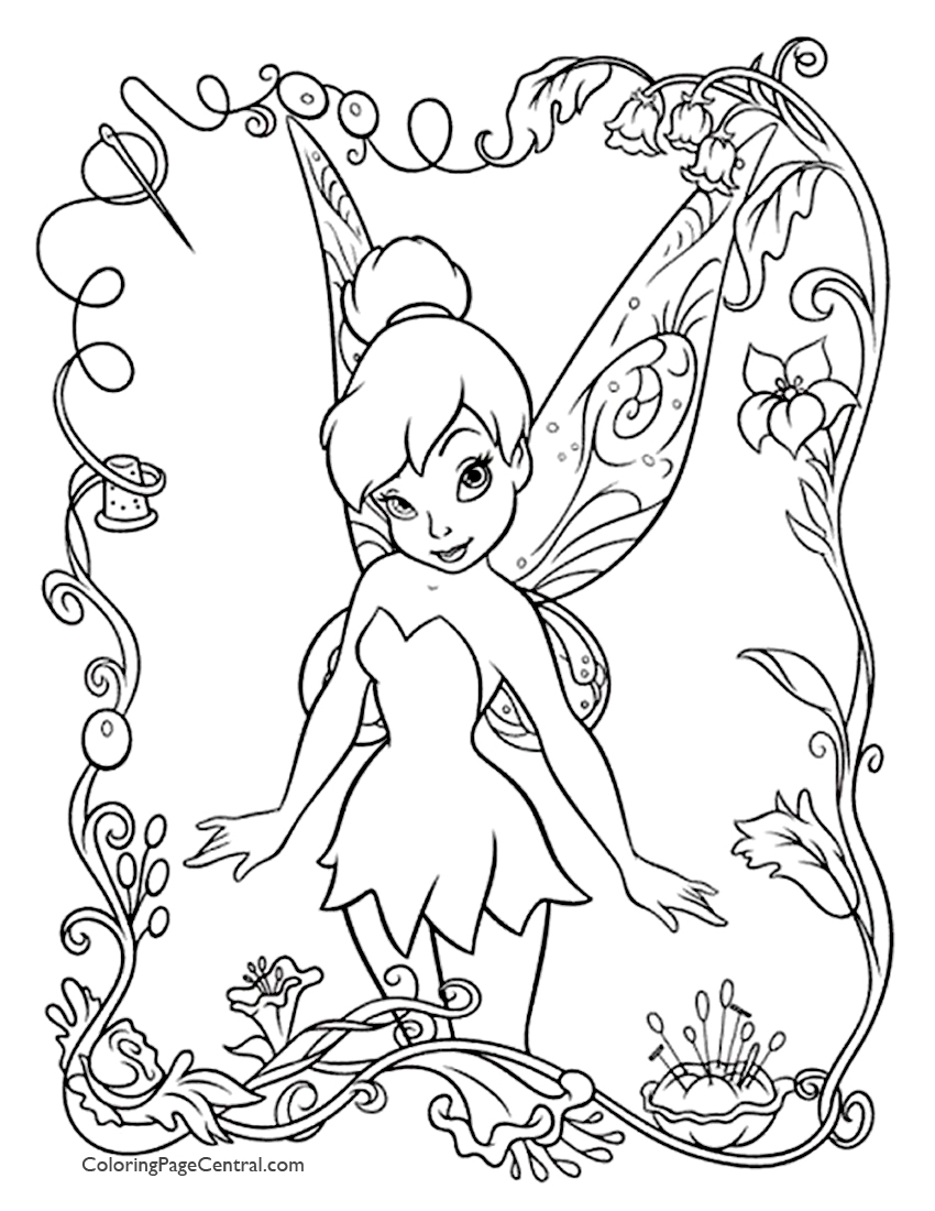 tinkerbell 01 coloring page  coloring page central