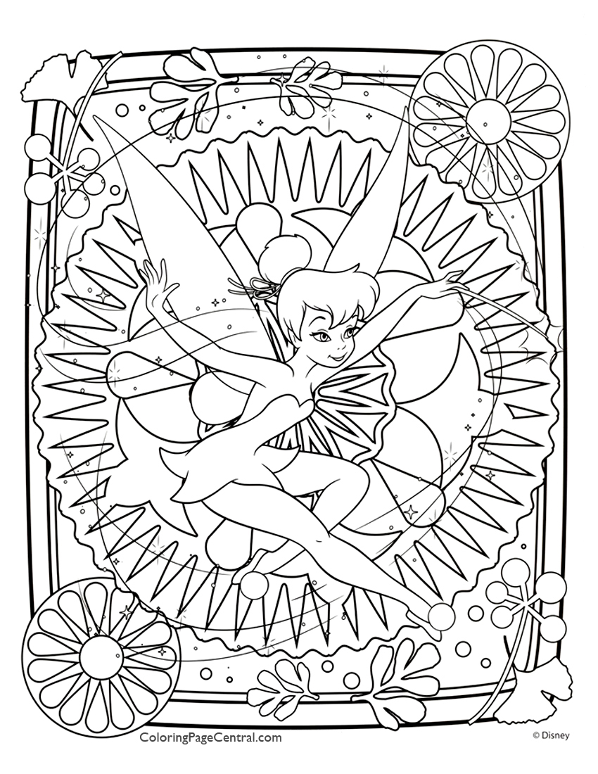 Tinkerbell 04 Coloring Page Coloring Page Central
