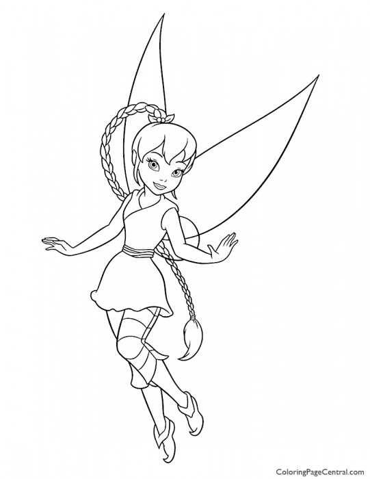 Disney Fairies Christmas Coloring Pages